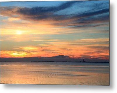 Cape Cod Bay Sunset Metal Print by John Burk