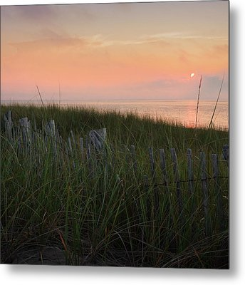 Cape Cod Bay Sunset Square Metal Print by Bill Wakeley