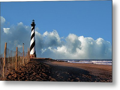 Cape Hatteras Lighthouse Nc Metal Print by Skip Willits