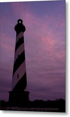 Cape Hatteras Lighthouse At Dusk Metal Print by Jim Baker