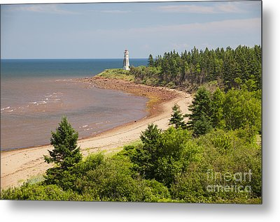 Cape Jourimain Lighthouse In New Brunswick Metal Print by Elena Elisseeva