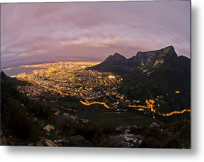 Cape Town Nights Metal Print by Aaron S Bedell