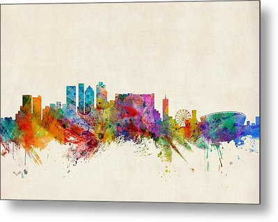 Cape Town South Africa Skyline Metal Print by Michael Tompsett