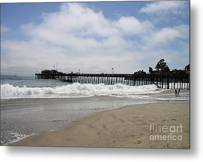 Capitola Wharf Metal Print by Christiane Schulze Art And Photography