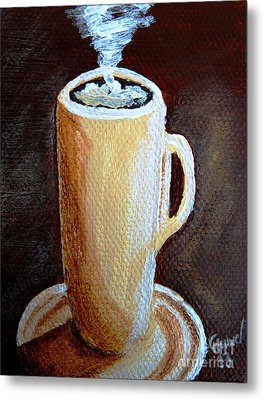 Cappuccino 3 Metal Print by Christine Huwer