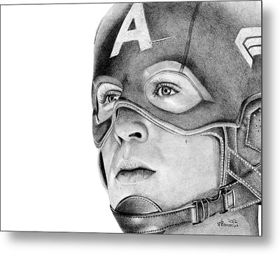 Captain America Metal Print by Kayleigh Semeniuk