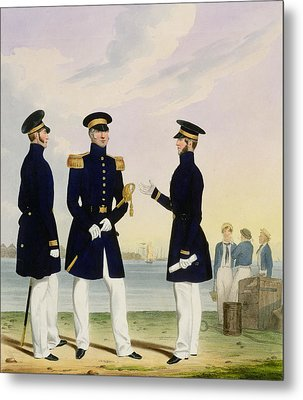 Captain Flag Officer And Commander Metal Print by Eschauzier and Mansion