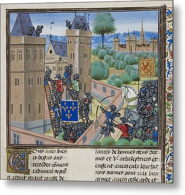 Capture Of Wark Castle Metal Print by British Library