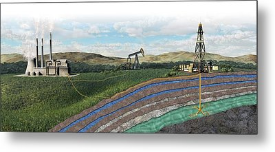 Carbon Capture Technology Metal Print by Nicolle R. Fuller