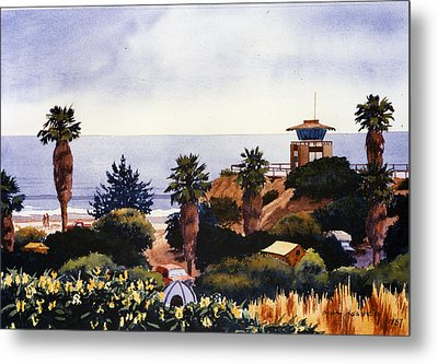 Cardiff State Beach Metal Print by Mary Helmreich
