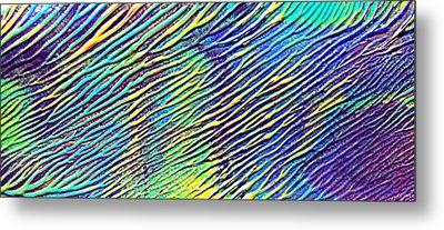 caribbean waves Acryl blurred vision Metal Print by Sir Josef Social Critic - ART
