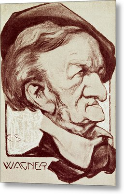 Caricature Of Richard Wagner Metal Print by Anonymous