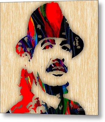 Carlos Santana Art Metal Print by Marvin Blaine