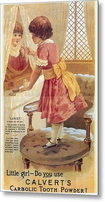 Carlvert's Carbolic Tooth Powder Ad Metal Print by Gianfranco Weiss