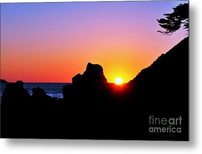 Carmel Sunset Metal Print by Susan Wiedmann