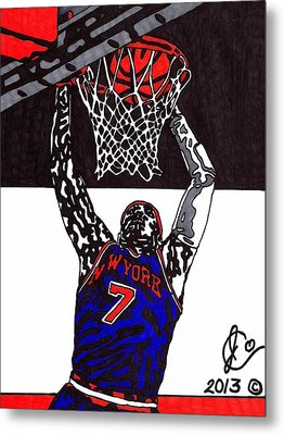 Carmelo Anthony Metal Print by Jeremiah Colley