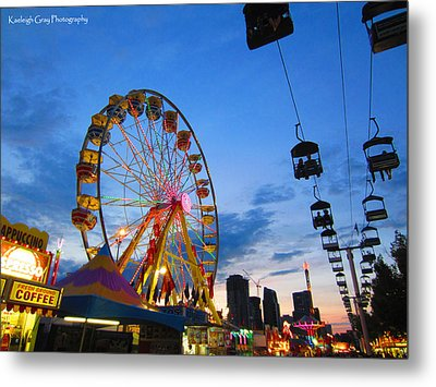 Carnival Colours Metal Print by Kaeleigh Gray