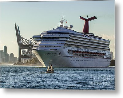 Carnival Cruise Line Destiny Metal Print by Rene Triay Photography