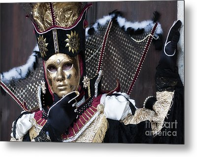 Carnival In Venice 13 Metal Print by Design Remix