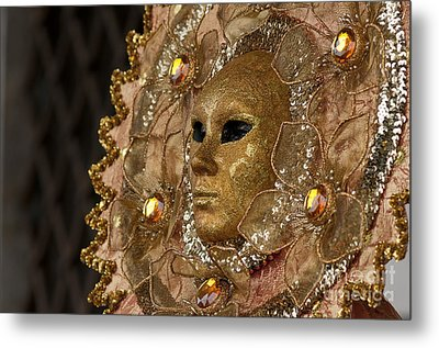 Carnival In Venice 8 Metal Print by Design Remix