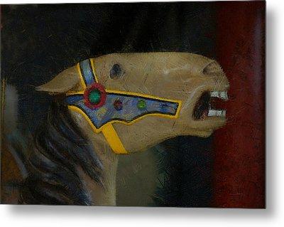 Carousel Horse Painterly 2 Metal Print by Ernie Echols