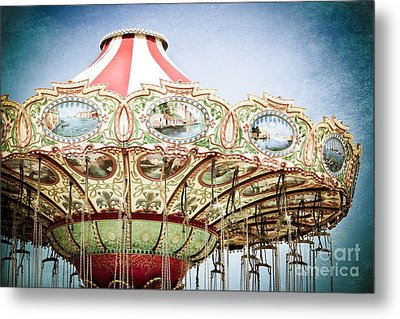 Carousel Top Metal Print by Colleen Kammerer