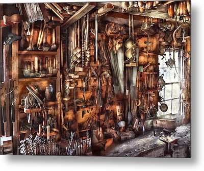 Carpenter - That's A Lot Of Tools  Metal Print by Mike Savad