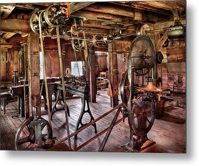 Carpenter - This Old Shop Metal Print by Mike Savad