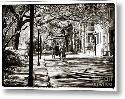 Carriage Ride In Charleston Metal Print by John Rizzuto