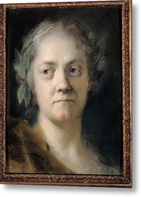 Carriera Rosalba, Self-portrait, 1746 Metal Print by Everett