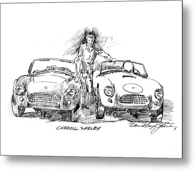 Carroll Shelby And The Cobras Metal Print by David Lloyd Glover