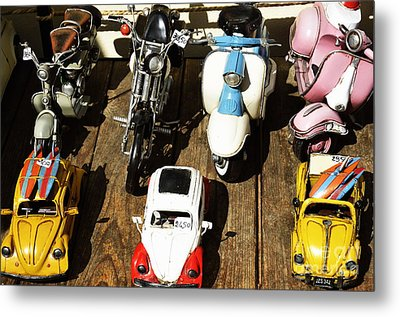 Cars Model For Sale Displayed At Store Metal Print by Sami Sarkis
