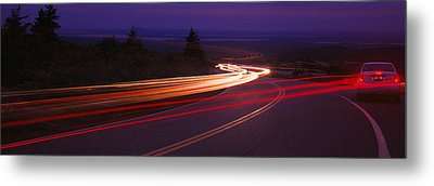 Cars Moving On The Road, Mount Desert Metal Print by Panoramic Images