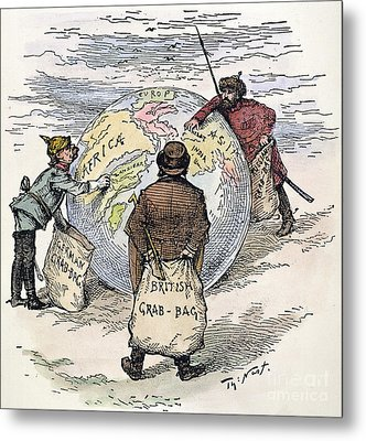 Cartoon - Imperialism 1885 Metal Print by Granger