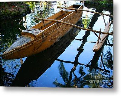 Carved Canoe Metal Print by Jennifer Apffel