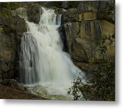 Cascade Creek Under The Bridge Metal Print by Bill Gallagher