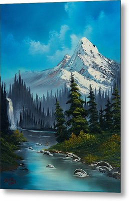 Cascading Falls Metal Print by C Steele