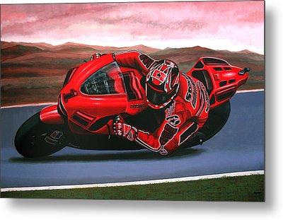 Casey Stoner On Ducati Metal Print by Paul Meijering