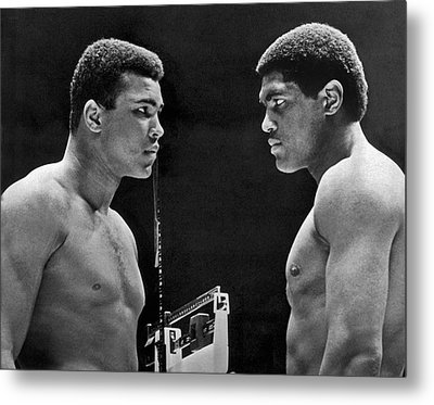 Cassius Clay Gives Whammy Eye Metal Print by Underwood Archives