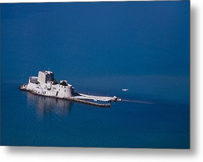 Castle Bourtzi Metal Print by David Waldo