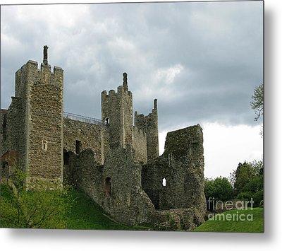 Castle Curtain Wall Metal Print by Ann Horn