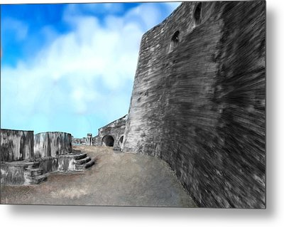 Castle In Puerto Rico Metal Print by Bruce Nutting