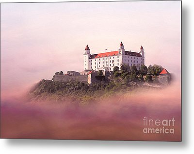 Castle In The Air II. - Bratislava Castle Metal Print by Martin Dzurjanik