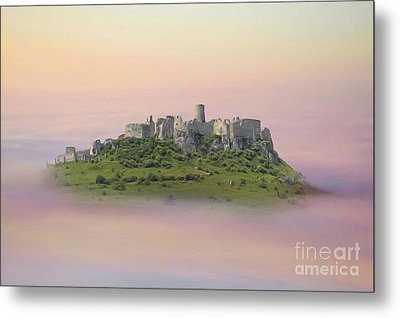 Castle In The Air. - Spis Castle Metal Print by Martin Dzurjanik