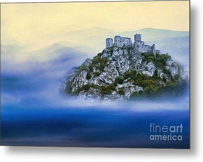 Castle In The Air V. - Strecno Castle Metal Print by Martin Dzurjanik