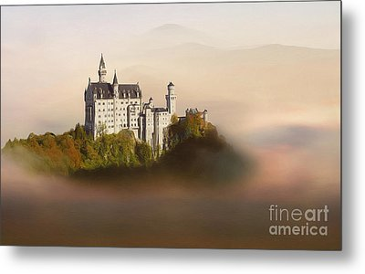 Castle In The Air Vi. - Neuschwanstein Castle Metal Print by Martin Dzurjanik