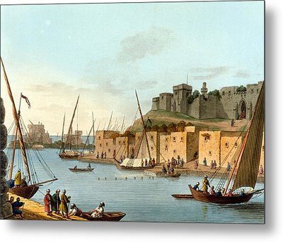 Castle In The Island Of Torosa Metal Print by Luigi Mayer