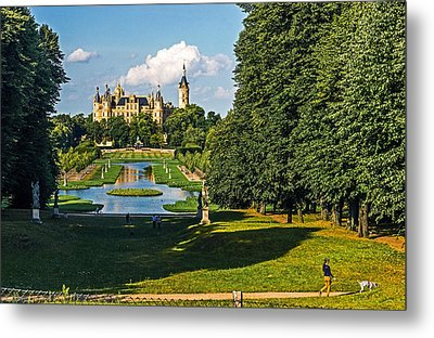 Castle Of Schwerin Landscape Metal Print by Michael Lobisch-Delija