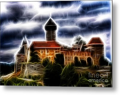 castle of the holy order - Sovinec Metal Print by Michal Boubin