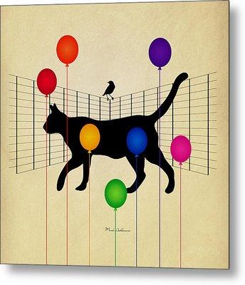 cat Metal Print by Mark Ashkenazi